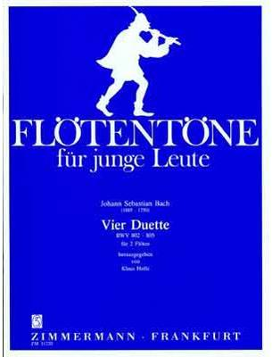 Picture of Sheet music for 2 flutes by Johann Sebastian Bach