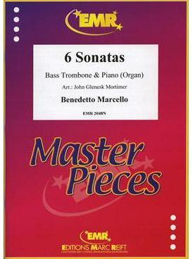 Picture of Sheet music for bass trombone and piano or organ by Benedetto Marcello