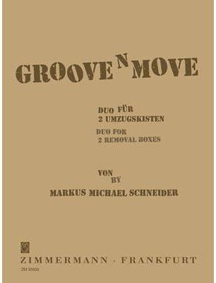 Picture of Sheet music  for 2 percussions. Sheet music for 2 packing cases by Markus Schneider