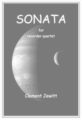 Picture of Sheet music  for descant recorder, treble recorder, treble recorder, tenor recorder, tenor recorder and bass recorder by Clement Jewitt. Quartet for recorders with six instruments.