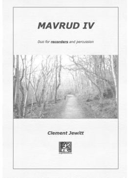 Picture of Sheet music  for sopranino recorder, descant recorder, treble recorder, tenor recorder and percussion by Clement Jewitt. Duo for recorders & percussion, one of a series of duos for different melody instruments and percussion