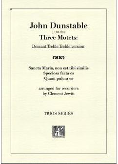Picture of Sheet music  for descant recorder, treble recorder and treble recorder by John Dunstable. England's earliest internationally known composer.