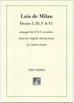 Picture of Sheet music  for descant recorder, treble recorder and tenor recorder by Luis de Milan. 16thC prolific Spanish composer and poet