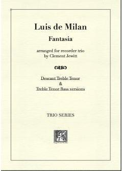 Picture of Sheet music  for descant recorder, treble recorder and tenor recorder by Luis de Milan. Trio arrangement of this work by a 16thC prolific Spanish composer and poet.
