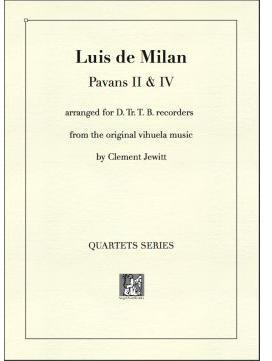 Picture of Sheet music  for descant recorder, treble recorder, tenor recorder and bass recorder by Luis de Milan. 16thC prolific Spanish composer and poet
