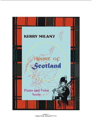 Picture of Sheet music  by Kerry Milan. Heart of Scotland is a unison song to stir Scottish hearts everywhere, with a rousing tune and stirring words.  As well as the voice and piano score there is also included a separate vocal part.