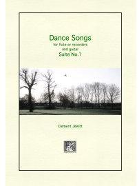 Picture of Sheet music  for flute, descant recorder, treble recorder, tenor recorder and guitar by Clement Jewitt. A sequence of four duos for flute or recorder and guitar