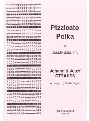 Picture of Sheet music  by Johann Strauss II. A collaborative polka by Johann and Josef Strauss has been arranged for double bass quartet by David Heyes. Who better to play an all-pizzicato piece than the undisputed pizzicato kings - the basses!