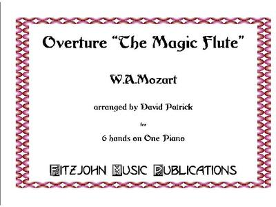 Picture of Sheet music  by Wolfgang Amadeus Mozart. Sheet music of  the opera overture by Mozart, arranged for piano - 6 hands by David Patrick