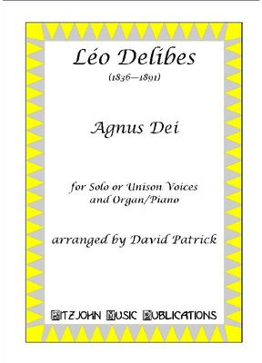 Picture of Sheet music for medium high voice or unison voices with piano or organ by Delibes