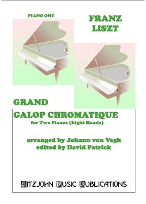 Picture of Sheet music of Grand Galop Chromatique by Franz Liszt arranged for 2 pianos - 8 hands by David Patrick