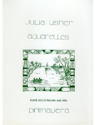 Picture of Sheet music  for flute, alto flute (optional) and piccolo (optional). Sheet music for solo flute by Julia Usher. You may play the separate pieces on C FLute, but there is one movement for Alto, and one for Piccolo.