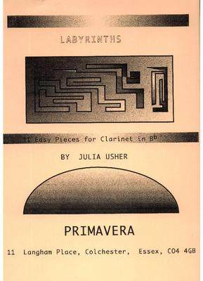 Picture of Sheet music  for clarinet by Julia Usher. Easy pieces on an old story - Icarus, learning to fly to escape the Cretan Labyrinth, and then falling to earth when he becomes arrogant and challenges the Sun.