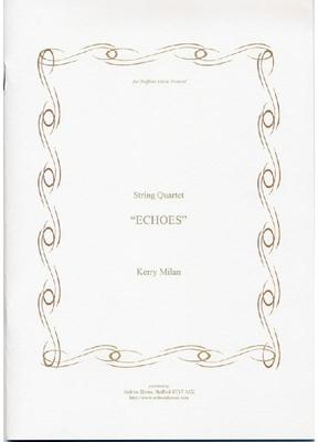 Picture of Sheet music  for violin, violin, viola and cello by Kerry Milan. - a single movement string quartet lasting about 15 minutes, written in response to a request from Stafford Music Festival for a piece evoking Shugborough Hall in Staffordshire.