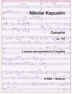 Picture of Sheet music for 2 pianos and 2 percussionists by Nikolai Kapustin