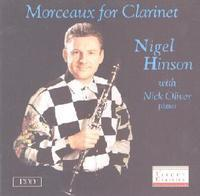 Picture of CD of music for clarinet performed by Nigel Hinson (clarinet) and Nick Oliver (piano).