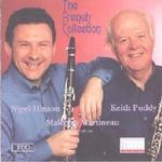 Picture of CD of music for clarinet performed by Nigel Hinson and Keith Puddy (clarinets) and Malcolm Martineau (piano).