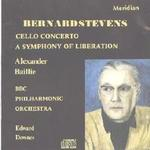 Picture of CD of music for cello and orchestra by Bernard Stevens, performed by Alexander Baillie (cello) and the BBC Philharmonic, conducted by Edward Downes.