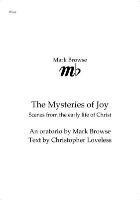 Picture of Sheet music  by Mark Browse. Download of orchestral parts for the oratorio 'The Mysteries of Joy'