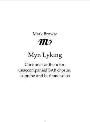 Picture of Sheet music  by Mark Browse. Unaccompanied Christmas anthem for SAB chorus, with soprano and baritone solos