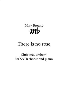 Picture of Sheet music  by Mark Browse. Christmas anthem for SATB chorus and piano