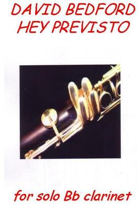 Picture of Sheet music for solo Bflat clarinet by David Bedford