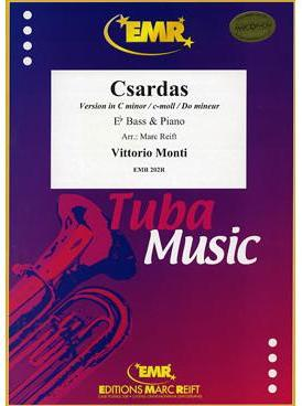 Picture of Sheet music  for tuba (eb) and piano. Sheet music for Eb bass and piano by Vittorio Monti