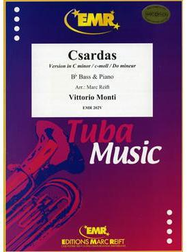 Picture of Sheet music  for tuba (bb) and piano. Sheet music for Bb bass and piano by Vittorio Monti
