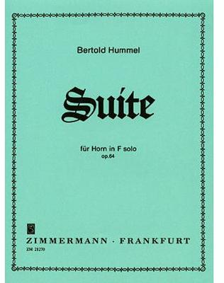 Picture of Sheet music for french horn solo by Bertold Hummel
