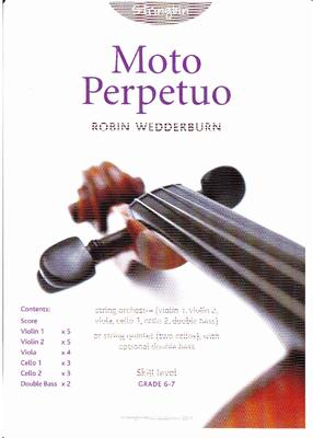 Picture of Sheet music  for violin, violin, viola, cello, cello and double bass by Robin Wedderburn. String orchestra (divided cellos) or string quintet. Duration just under 2 minutes. Grade 6/7.