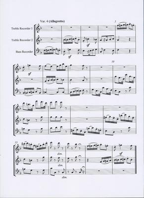 Picture of Sheet music  for treble recorder, treble recorder and bass recorder by Ludwig van Beethoven. An arrangement for recorder trio (AAB) of Beethoven's original for two oboes and cor anglais. A lot of fun but not easy.