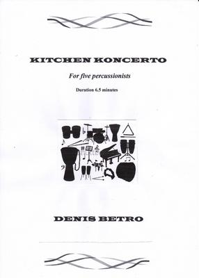 Picture of Sheet music  for vibraphone, xylophone, glockenspiel and tuned gong by Denis Betro. A vibrant, magical world of sonoroties is evoked by five percussionists playing twenty instruments.