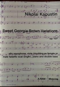 Picture of Sheet music  for viola or voice; double bass; alto sax; piano by Nikolai Kapustin. Sheet Music for viola (doubling as female or male falsetto scat singer), alto saxophone, piano and double bass