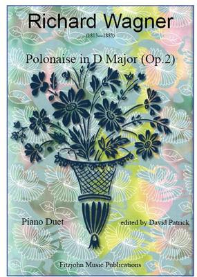 Picture of Sheet music  for piano duet (one piano) by Richard Wagner. A student work by the great composer Wagner being first published in 1832.  A delightful and sparkling piece for concert performance.