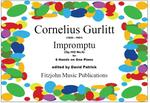Picture of Sheet music  for piano trio (3 players on one piano) by Cornelius Gurlitt. From 6 Tönstucke this is a charming piece in 6/8 time.  It would be much enjoyed by audience and pianists alike.