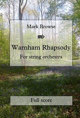 Picture of Sheet music  for string orchestra by Mark Browse. Performance parts for my Warnham Rhapsody. The full score is available in book form from tutti.co.uk.