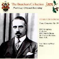 Picture of CD of a live studio performance of the Concerto for Piano and Orchestra by Busoni conducted by Sir Thomas Beecham Artist: Sir Thomas Beecham, BBC Symphony Orchestra and Noel Mewton-Wood