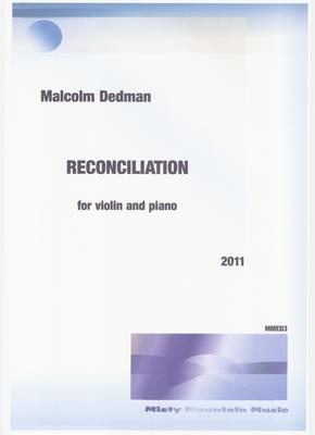 Picture of Sheet music  by Malcolm Dedman. This piece is intended primarily for students.  It has been adapted from the 'reconciliation' theme, part of 'Plea for Concordance' for two cellos and piano.