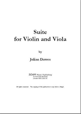 Picture of Sheet music  by Julian Dawes. A set of six pieces for Violin and Viola