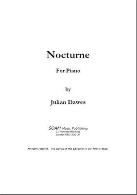 Picture of Sheet music  for piano by Julian Dawes. Nocturne (Night Piece) for Piano