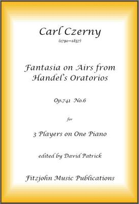 "Picture of Sheet music  for piano trio (one piano) by Carl Czerny. A skillfully written work using themes from two of Handel's Oratorios (including ""Hallelujah"" Chorus from ""Messiah"").  A very good audience piece and one which will be much enjoyed by all."
