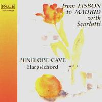 Picture of CD of works by Scarlatti, Soler, Seixas etc.  performed by Penelope Cave (harpsichord)