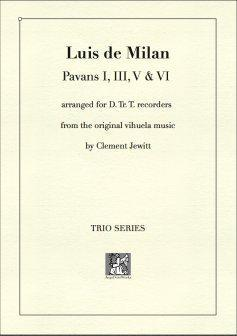 Picture of Sheet music  for descant recorder, treble recorder and tenor recorder by Luis de Milan. 16thC Spanish composer and poet