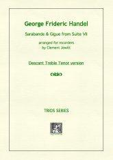 Picture of Sheet music  for descant recorder, treble recorder and tenor recorder by George Frideric Handel. Arranged for recorder trio