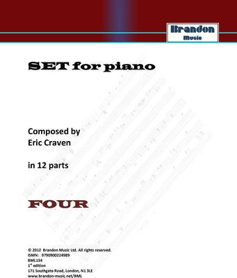 Picture of Sheet music  by Eric Craven. Non-prescriptive Piano open for interpretation