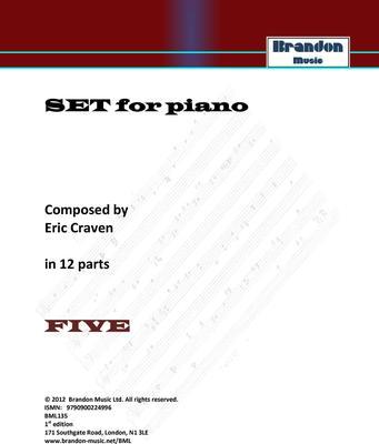 Picture of Sheet music  for PIANO by Eric Craven. Non-prescriptive Piano open for interpretation