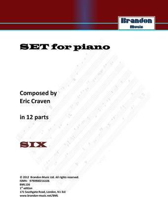 Picture of Sheet music  for piano by ERIC CRAVEN. Non prescriptive open for interpretation