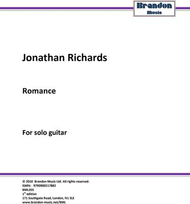Picture of Sheet music  by Jonathan N. Richards. Modern classical solo guitar