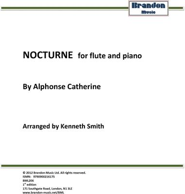 Picture of Sheet music  by Alphonse Catherine. Flute with piano accompaniment.