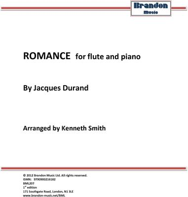 Picture of Sheet music  by Jacques Durand. Flute and piano acompaniment